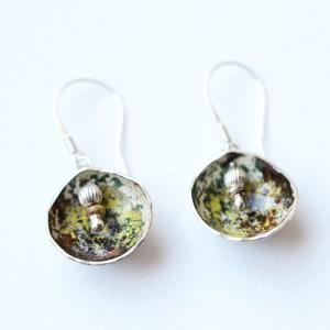Emaliuoti sidabriniai auskarai - Ohrringe aus Silber mit emaille