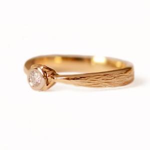 Geltono aukso 585' žiedas su briliantu - Ring aus gelbem Gold 585' mit Brillant