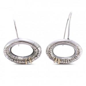 Sidabriniai auskarai su auksu -Ohrringe aus Silber und Gold
