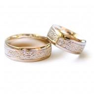 Raudono ir balto aukso 585' vestuviniai žiedai - Trauringe mit weißgold und rotgold
