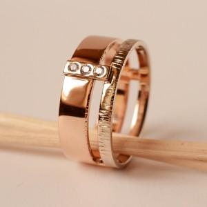 Žiedas su svarovski kristalais